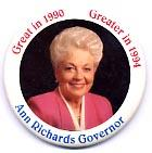 CLICK HERE TO BUY ANN RICHARDS ELECTION  MEMORABILIA
