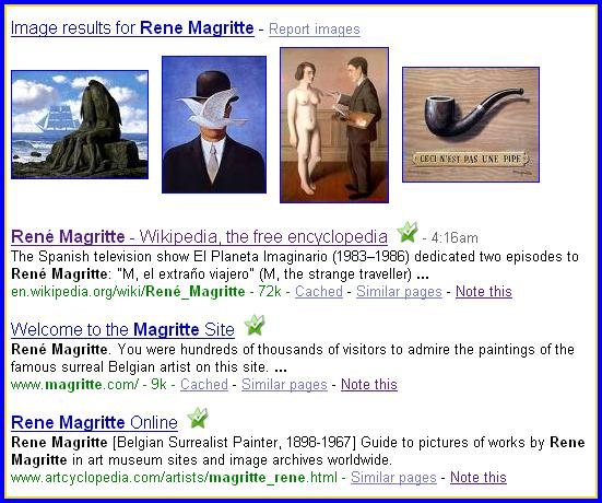 Click here to google magritte