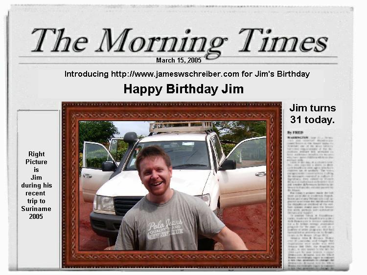 Jameswschreiber jims 31st birthday card bookmarktalkfo Choice Image